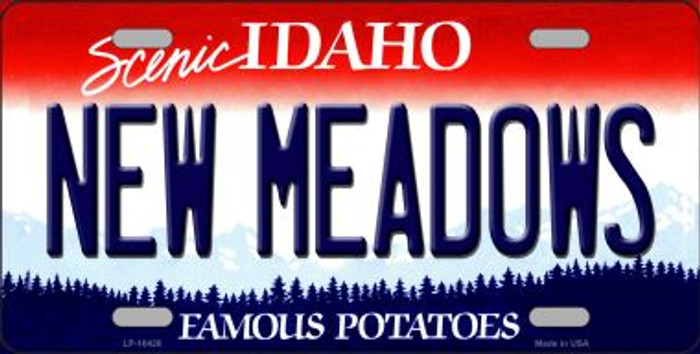 New Meadows Idaho Background Wholesale Metal Novelty License Plate