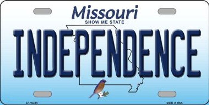Independence Missouri Background Wholesale Metal Novelty License Plate