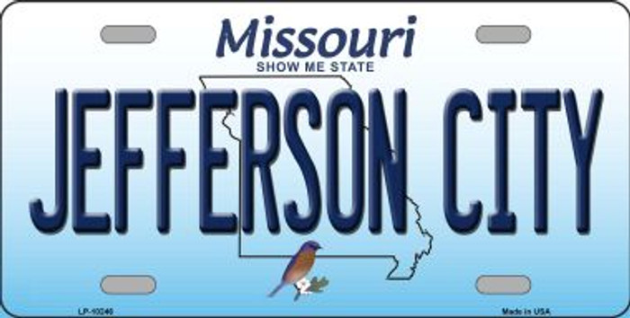 Jefferson City Missouri Background Wholesale Metal Novelty License Plate