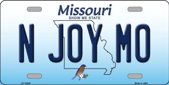 N Joy MO Missouri Background Wholesale Metal Novelty License Plate