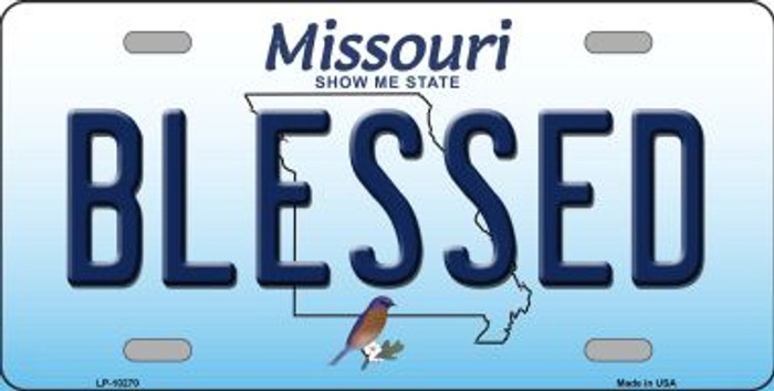 Blessed Missouri Background Wholesale Metal Novelty License Plate
