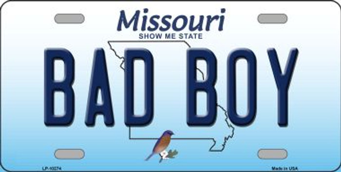 Bad Boy Missouri Background Wholesale Metal Novelty License Plate