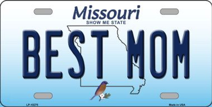 Best Mom Missouri Background Wholesale Metal Novelty License Plate