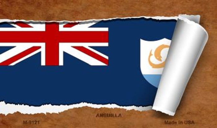 Anguilla Flag Scroll Wholesale Novelty Metal Magnet
