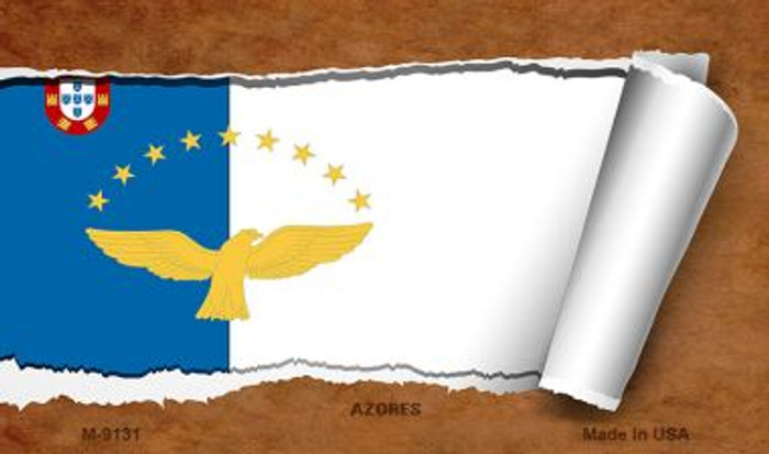 Azores Flag Scroll Wholesale Novelty Metal Magnet