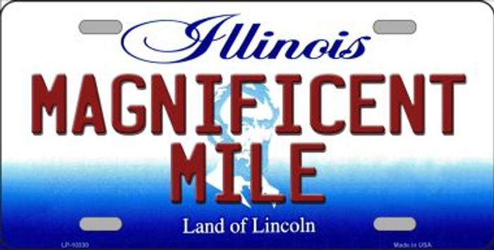 Magnificent Mile Illinois Background Wholesale Metal Novelty License Plate