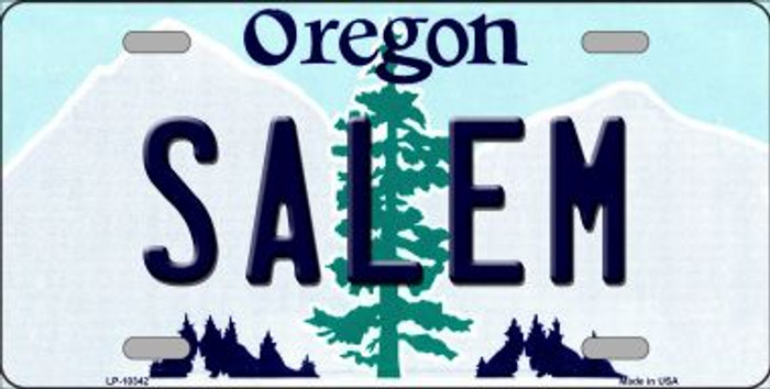 Salem Oregon Background Wholesale Metal Novelty License Plate