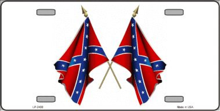 Confederate Crossed Flags Wholesale Metal Novelty License Plate LP-2400