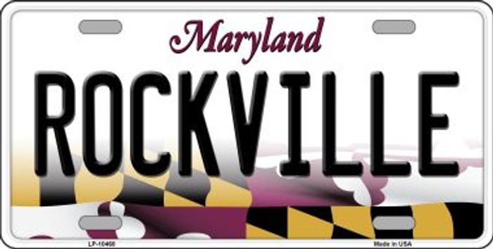 Rockville Maryland Background Wholesale Metal Novelty License Plate