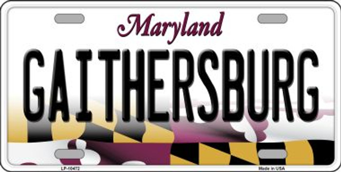 Gaithersburg Maryland Background Wholesale Metal Novelty License Plate