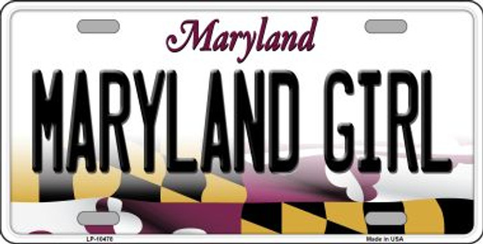 Maryland Girl Maryland Background Wholesale Metal Novelty License Plate