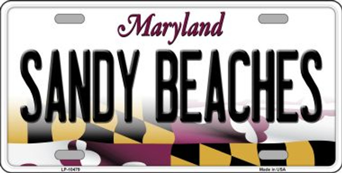 Sandy Beaches Maryland Background Wholesale Metal Novelty License Plate