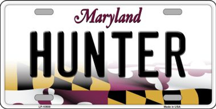 Hunter Maryland Background Wholesale Metal Novelty License Plate