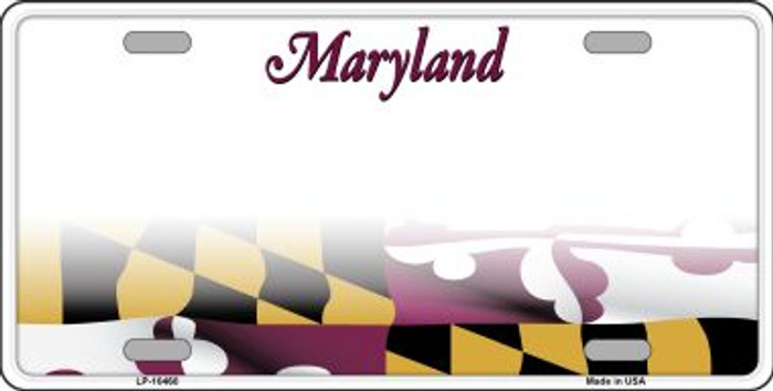 Maryland State Background Wholesale Metal Novelty License Plate