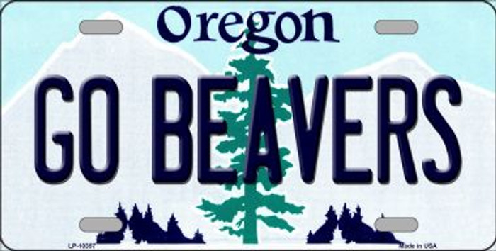 Go Beavers Oregon Background Wholesale Metal Novelty License Plate