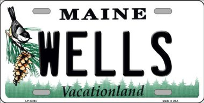 Wells Maine Background Wholesale Metal Novelty License Plate
