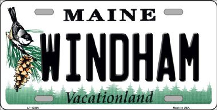 Windham Maine Background Wholesale Metal Novelty License Plate