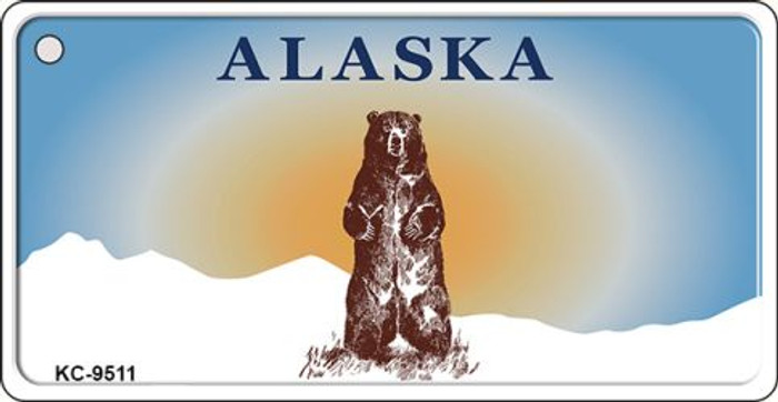 Alaska Bear Background Wholesale Novelty Key Chain