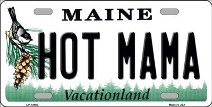 Hot Mama Maine Background Wholesale Metal Novelty License Plate