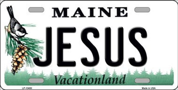 Jesus Maine Background Wholesale Metal Novelty License Plate