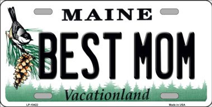 Best Mom Maine Background Wholesale Metal Novelty License Plate