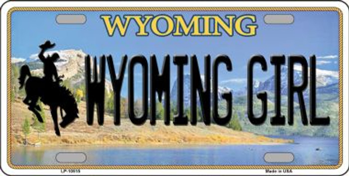 Wyoming Girl Background Wholesale Metal Novelty License Plate