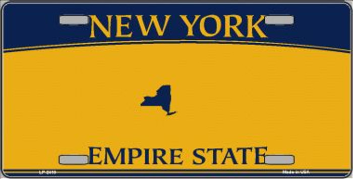 New York State Background Blanks Wholesale Metal Novelty License Plate LP-2418