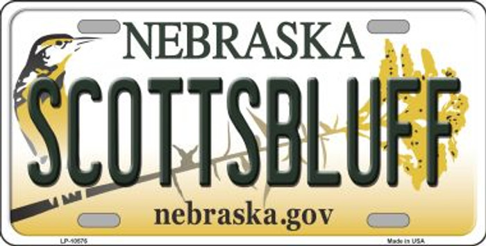 Scottsbluff Nebraska Background Wholesale Metal Novelty License Plate