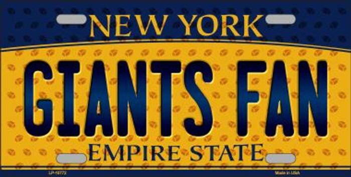 Giants Fan New York Background Novelty Wholesale Metal License Plate