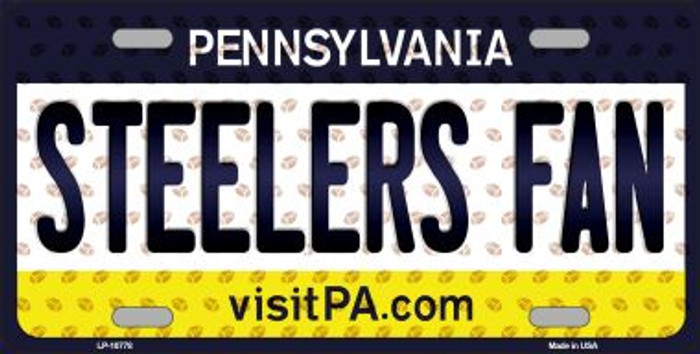 Steelers Fan Pennsylvania Background Novelty Wholesale Metal License Plate