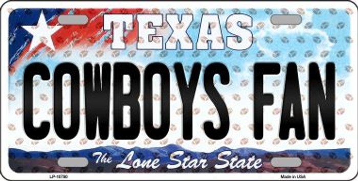Cowboys Fan Texas Background Novelty Wholesale Metal License Plate