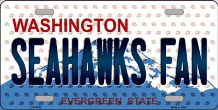 Seahawks Fan Washington Background Novelty Wholesale Metal License Plate