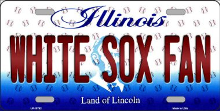 White Sox Fan Illinois Background Novelty Wholesale Metal License Plate