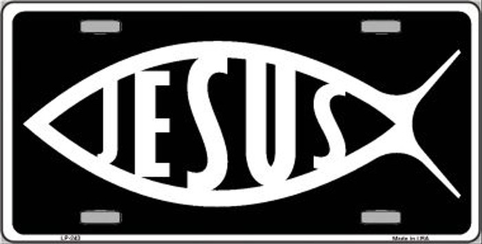 Jesus Fish Wholesale Metal Vanity Novelty License Plate LP-243