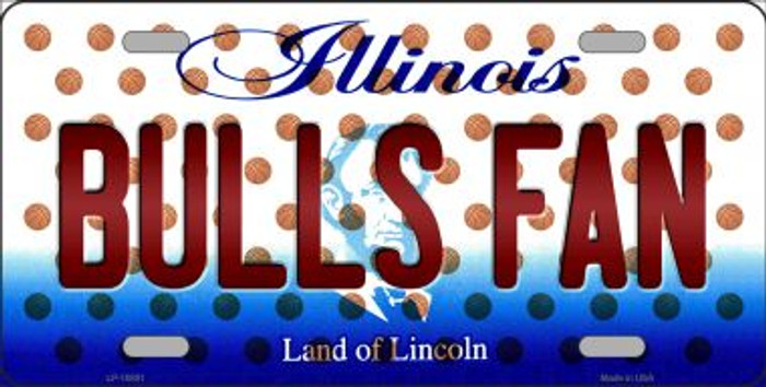 Bulls Fan Illinois Background Novelty Wholesale Metal License Plate