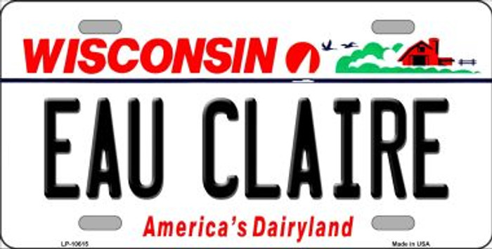 Eau Claire Wisconsin Background Wholesale Metal Novelty License Plate