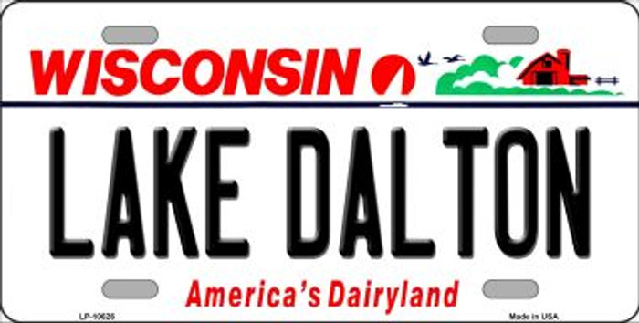 Lake Dalton Wisconsin Background Wholesale Metal Novelty License Plate