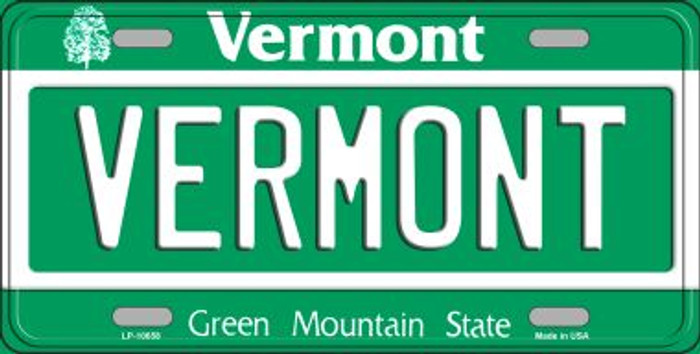 Vermont Background Wholesale Metal Novelty License Plate
