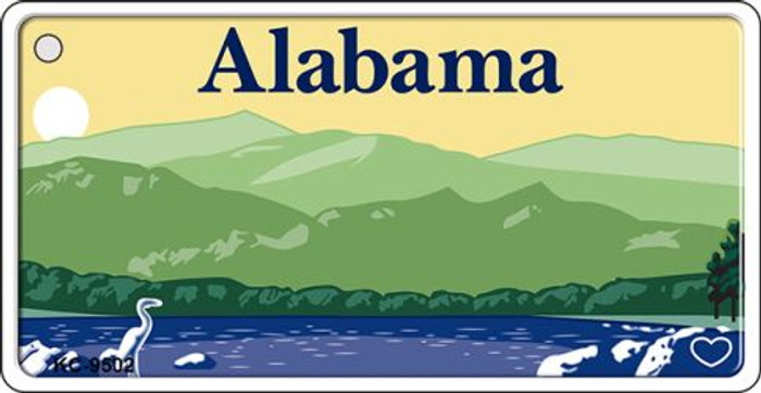 Alabama Background Wholesale Novelty Key Chain