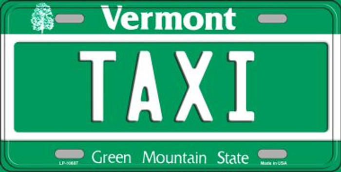 Taxi Vermont Background Wholesale Metal Novelty License Plate
