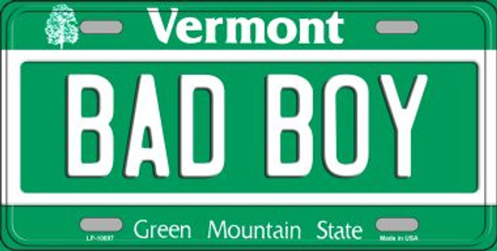 Bad Boy Vermont Background Wholesale Metal Novelty License Plate