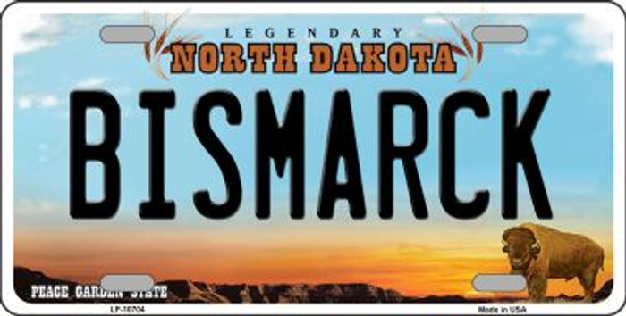 Bismarck North Dakota Background Wholesale Metal Novelty License Plate