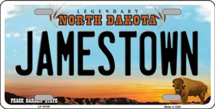 Jamestown North Dakota Background Wholesale Metal Novelty License Plate