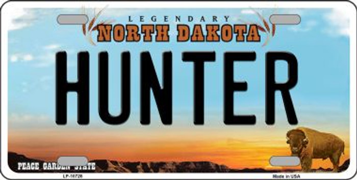 Hunter North Dakota Background Wholesale Metal Novelty License Plate