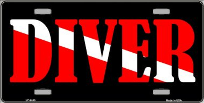 Scuba Diver Wholesale Metal Novelty License Plate LP-2455