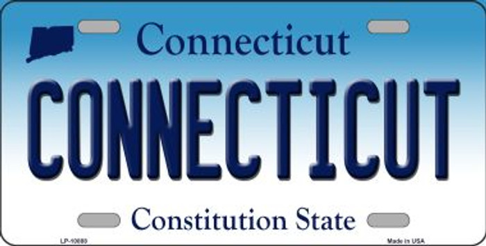 Connecticut Background Wholesale Metal Novelty License Plate