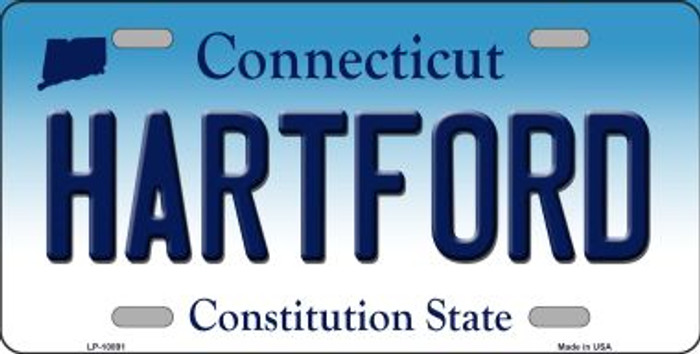 Hartford Connecticut Background Wholesale Metal Novelty License Plate
