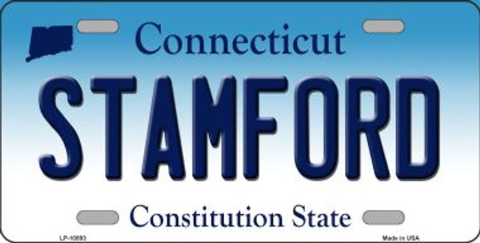 Stamford Connecticut Background Wholesale Metal Novelty License Plate
