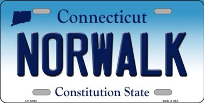 Norwalk Connecticut Background Wholesale Metal Novelty License Plate