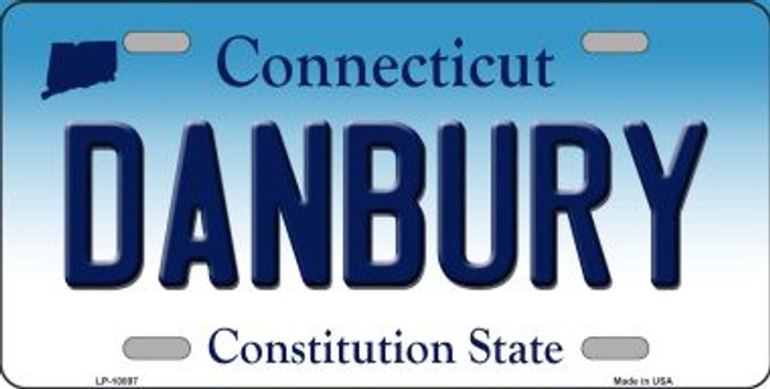 Danbury Connecticut Background Wholesale Metal Novelty License Plate